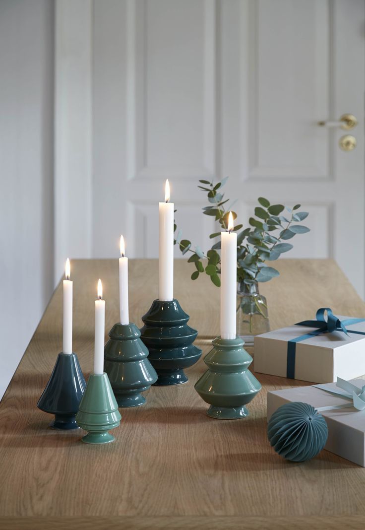 Use the beautiful green shades from the Avvento line to create a tasteful Christmas feeling.