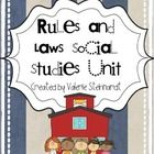 This unit features 5 activities about the rules and laws in our community. It could be used anywhere from Kindergarten up to 2nd or even 3rd grade....
