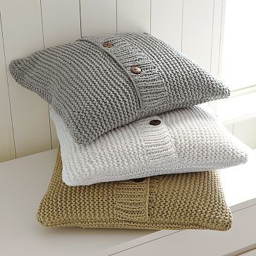chunky sweater pillows