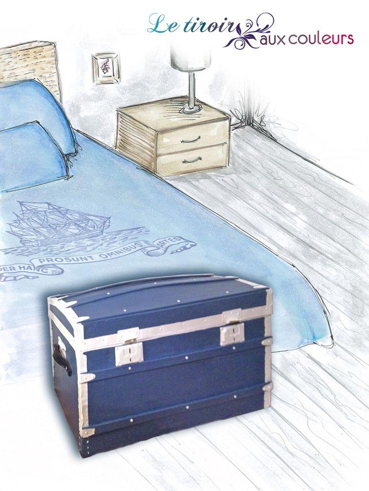 best 25 malle en bois ideas on pinterest malle rangement valise d coration and malle bois. Black Bedroom Furniture Sets. Home Design Ideas