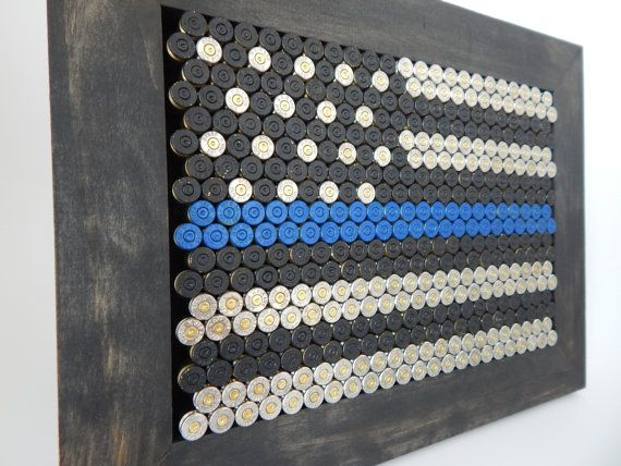 American LEO: Thin Blue Line flag for Law by EndofDaysDesign