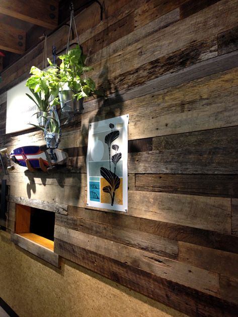 American Prairie Barn Wood Finds New Life With REI In Santa Monica CA