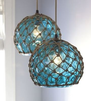 The beauty and history of Vintage Fishing Glass Floats is simply inspiring and there are a few cool coastal lamps modeled after these floats.
