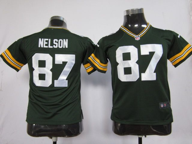 Over 10 Pcs Free Kids Nike NFL Green Bay Packers 87 Jordy Nelson Green Game  Jersey. b65853a2b