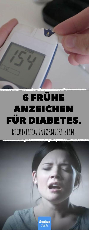 6 frühe Anzeichen für Diabetes. Rechtzeitig informiert sein. #diabetes #sympto…