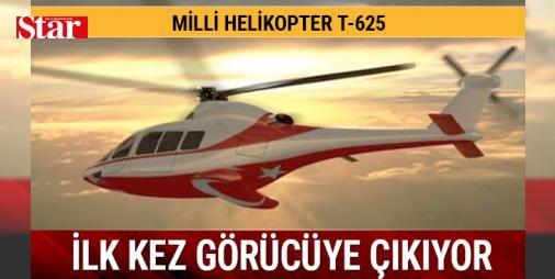 İlk milli T-625 helikopter görücüye çıkıyor: Genel maksatlı 'İlk Türk helikopteri' T-625, İstanbul'da 9 Mayıs'ta kapılarını açacak IDEF Savunma ve Havacılık Fuarı'nda kamuoyunun önüne çıkacak