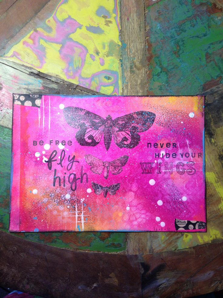 Fly free Mixed media art