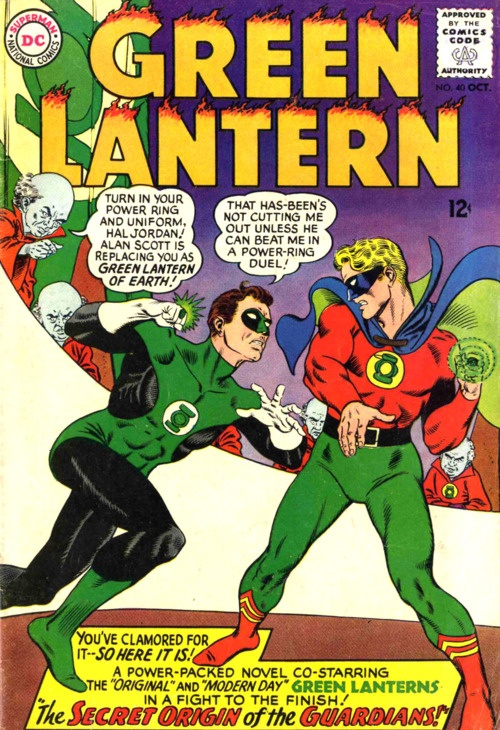 Silver age Green Lantern (Hal Jordan) vs golden age Green Lantern (Alan Scott), DC Comics, No.40