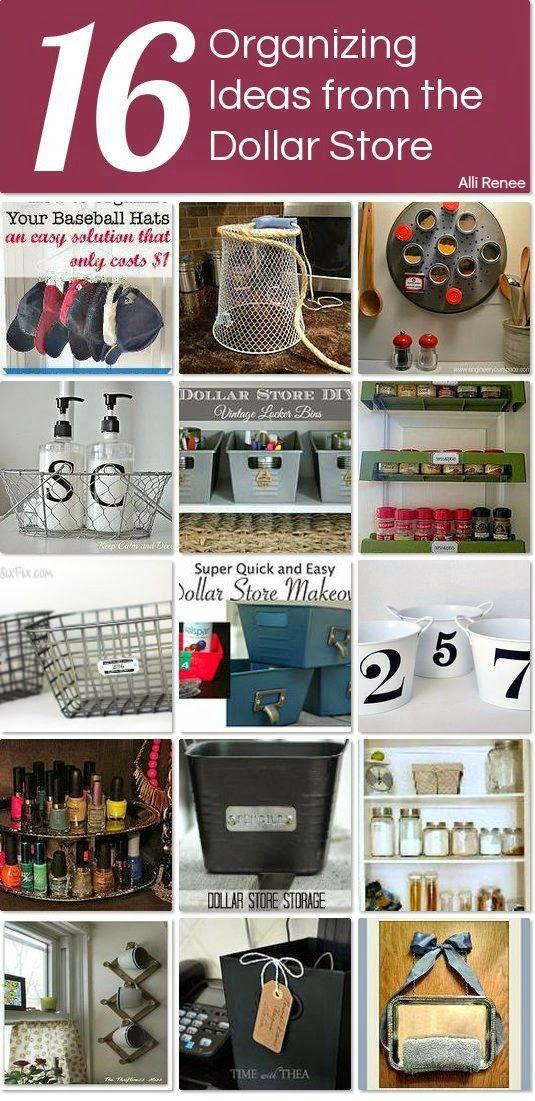 Alli Renee Blog: 16 Organizing Ideas From The Dollar Store
