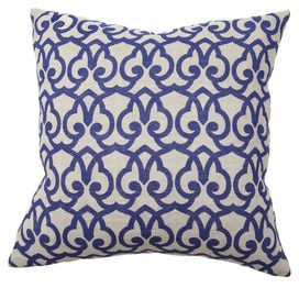 linen pillow with trellis motif product pillow material linen cover and feather cotton