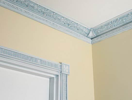 Crown Molding Ceiling Door Trim For Mid Century European Flair Beautiful Accent To White