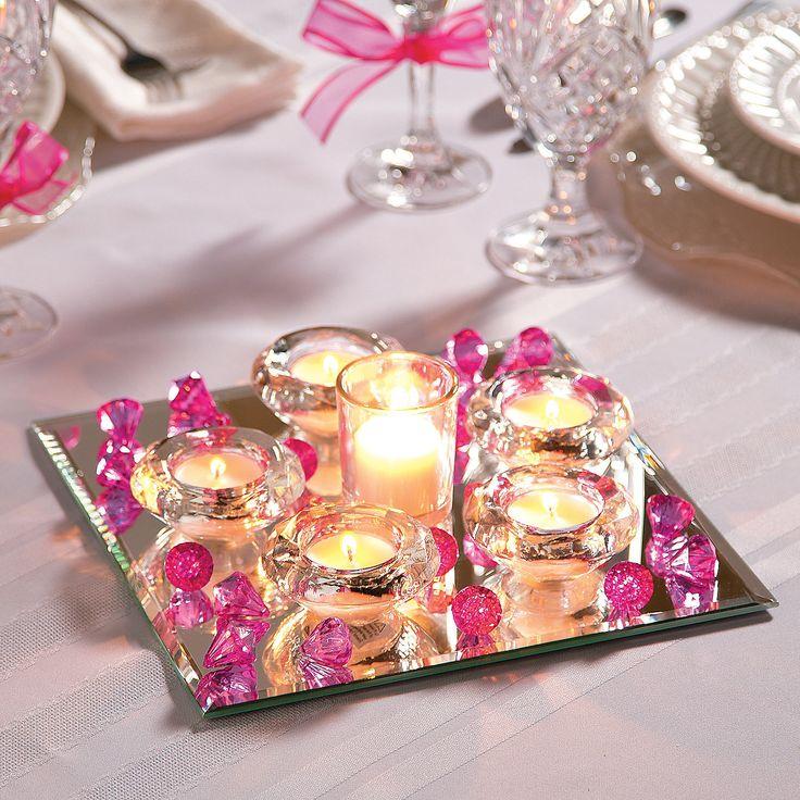 Ideas about mirror wedding centerpieces on pinterest
