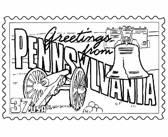 pennsylvania coloring pages - photo#5