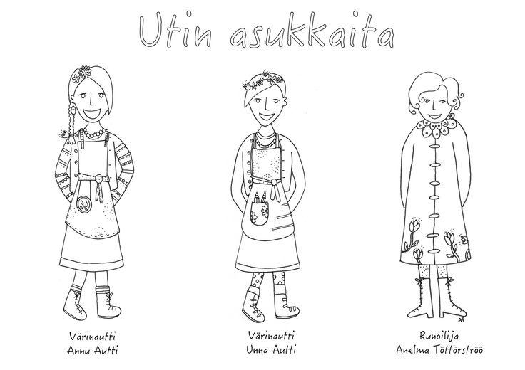 Värityskuva, Värinautti Annu Autti, Värinautti Unna Autti ja runoilija Anelma Töttörströö