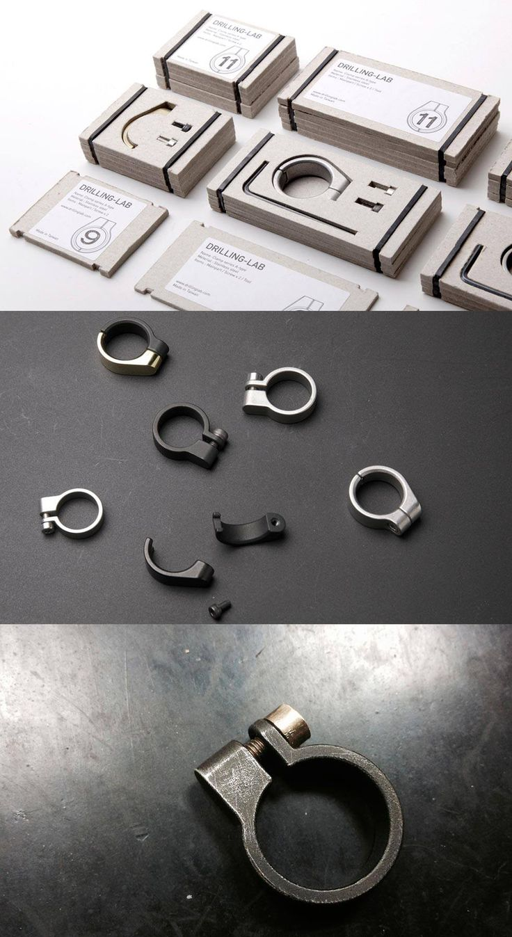 Industrial Clamp Jewelry Collection by Drilling Lab - New design studio led by designer Lu-Wei Chen of Taiwan, Drilling Lab has introduced their first collection called Clamp.