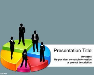 Business 3D Pie Chart Template for PowerPoint PPT Template
