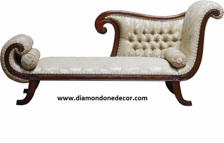 Recamier baroque french reproduction rococo louis xv for Small fainting couch