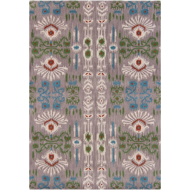 Mandara Gray Background Hand Tufted Abstract Wool Rug Ping Great Deals On Rugs