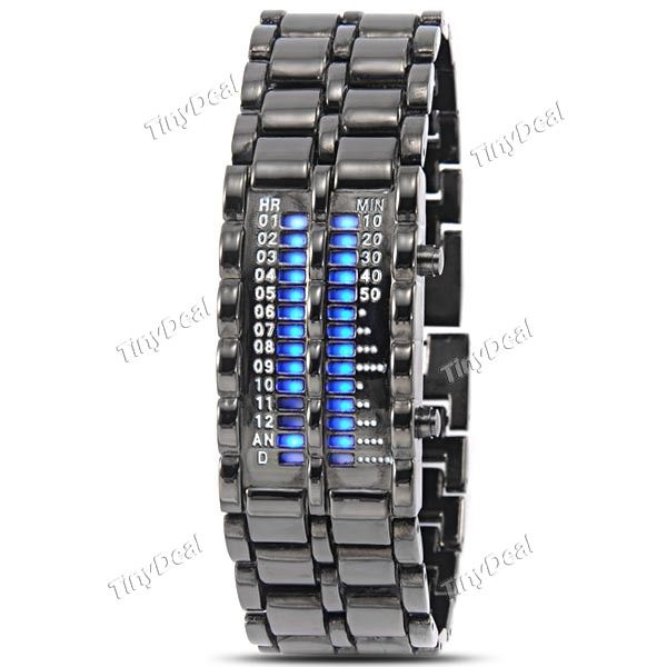 Matrix Watch Digital 28- LED Watch Wristwatch Wrist Watch Bracelet Watch Timepiece for Men Women WWT-268905