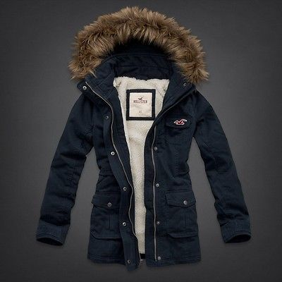 NEW HOLLISTER ARROW POINT PARKA/JACKET WOMENS/JUNIORS SIZE M - NAVY