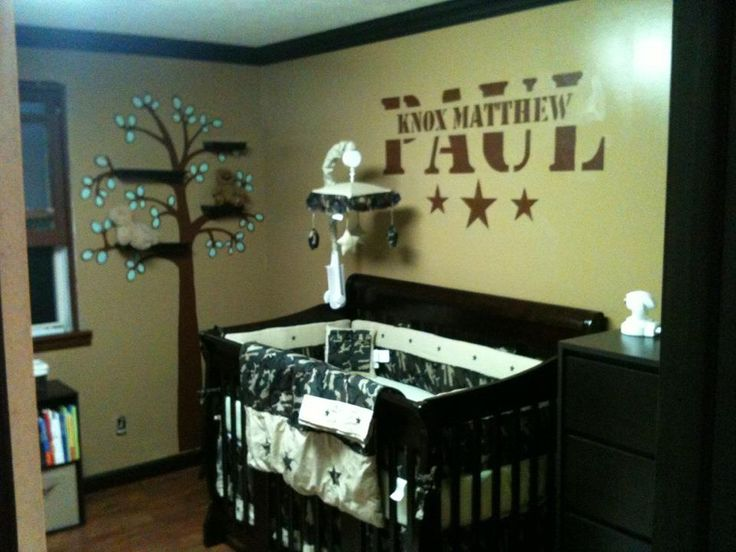 Baby Boy Camo Nursery Fort Knox Down The Road Baby Boy