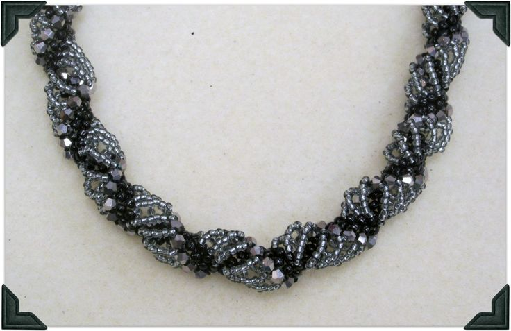 how make a Dutch Spiral Necklace.#Seed #Bead #Tutorials