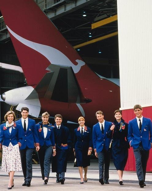 Qantas uniforms 1994-03.
