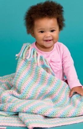 Häkelmuster für Hübsche pastellfarbene Babydecke