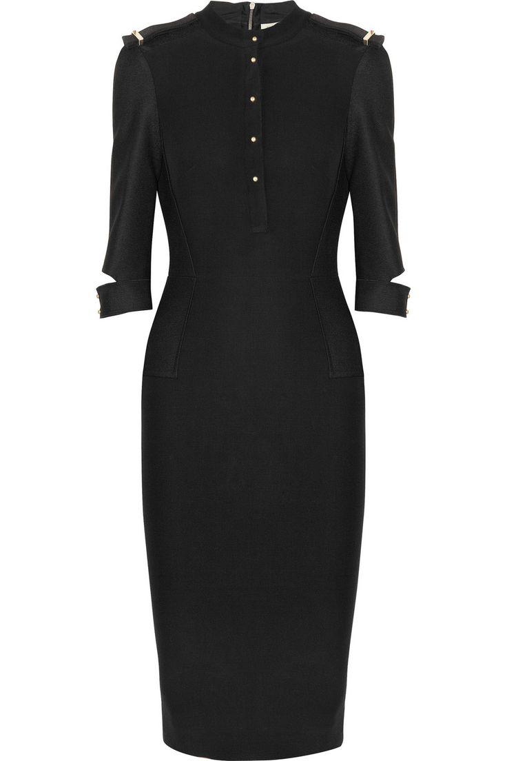 Victoria Beckham | Silk and wool-blend crepe dress