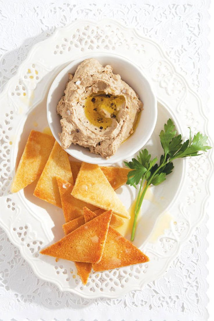 Chicken Liver Pâté. Use Melba Toast to keep it low carb.