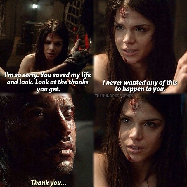 """When Octavia finally did something good for someone else instead of herself. """"Thank you."""""""