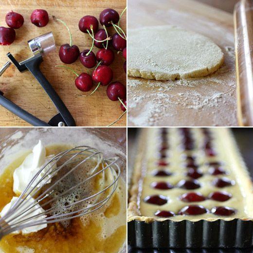 Cherry-Brown Butter-Creme Fraiche Tart