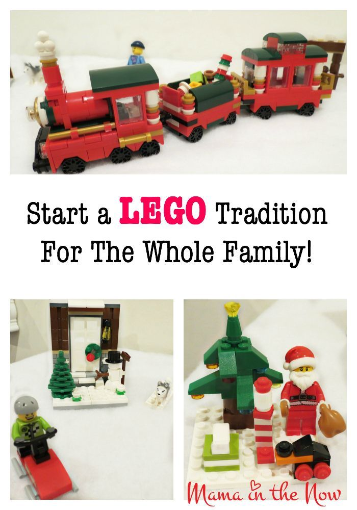 Start a LEGO tradition for the whole family! This LEGO Christmas winter wonderland will grow and expand as the years go by - and the kids will LOVE setting it up each and every year! So much fun! Put your LEGO advent calendar to good use!