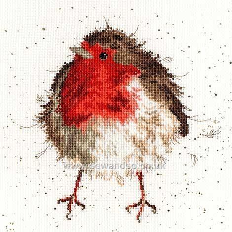 Buy+Jolly+Robin+Cross+Stitch+Kit+Online+at+www.sewandso.co.uk - by Hannah Dale