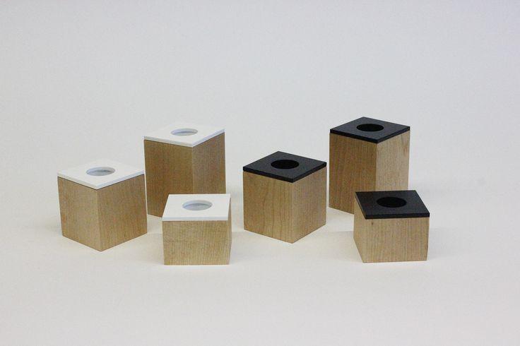 Domino. candleholders designed by Hanna-Marie Naukkarinen, Niko Hakala and Marianne Mäensivu www.dsgnsquare.com/domino www.facebook.com/designdomino