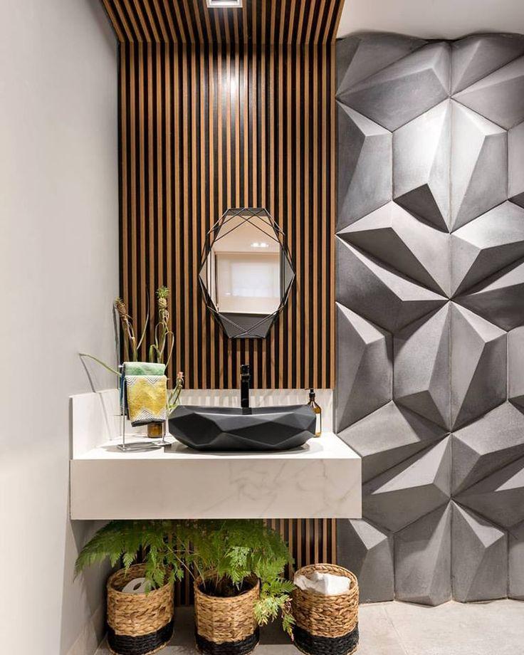 MAI MARINGÁ - Banheiro da Demi por Amanda Yumi Arquitetura