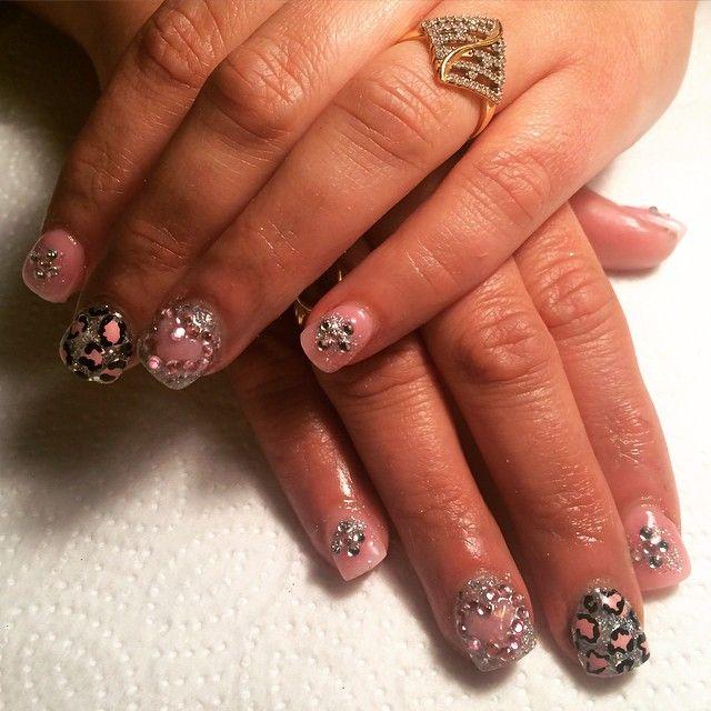 #art #beauty #fills #fullsets #frenchtip #pinkandwhites #pink #cheetahprint #rhinestones #instanails #longnails #lovewhatido #manicures #nails #naildit #nailartvids #rockstars #salon #shortnails #tutorials #visalianails