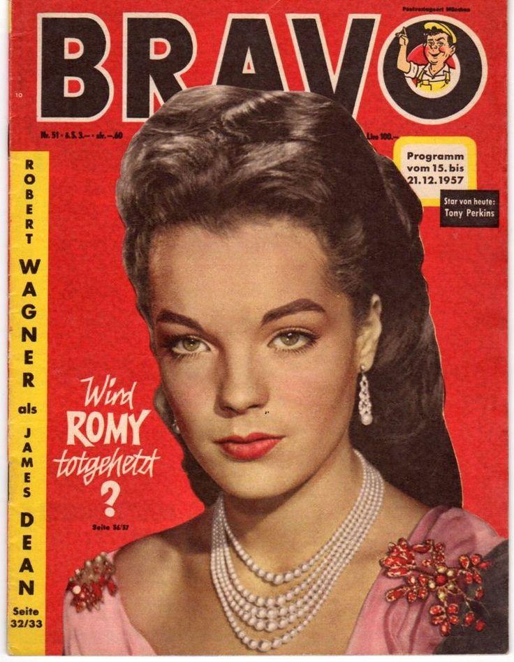 "Romy Schneider On The Front Cover Of ""Bravo"" Magazine"