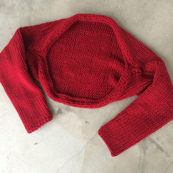 simple knitted shrug free pattern -- made by marni