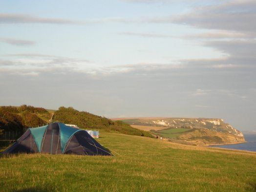 EWELEAZE FARM - Camping by the sea on the south coast of Dorset, UK - beautiful campsite located near osmington, Weymouth with wonderful sea views open during August for tent camping.