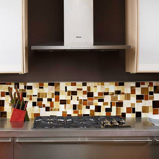 Pull in all of the colors from your kitchen with a multi-color backsplash. More tile backsplash ideas: http://www.bhg.com/kitchen/backsplash/kitchen-tile-backsplash-ideas/?socsrc=bhgpin052713multicolorbacksplash=2