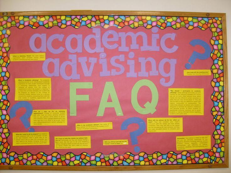 Academic Advising Bulletin Board