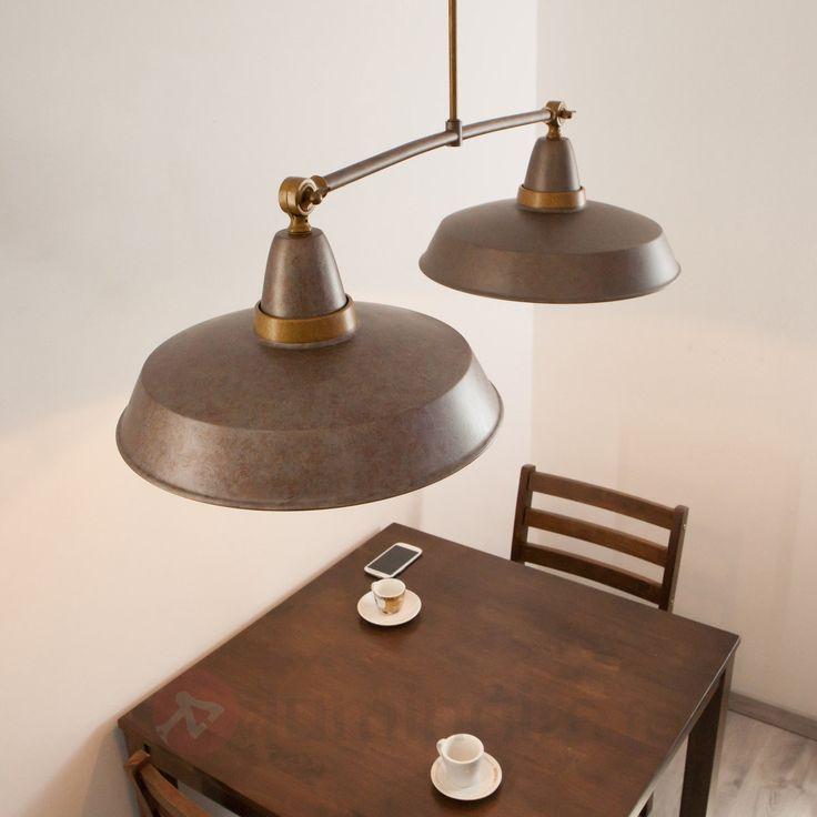 Suspension rétro Vintage rouille à 2 lampes sicher & bequem online bestellen bei Lampenwelt.de.