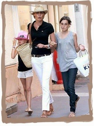 White jeans + straw hat + basket = Provence