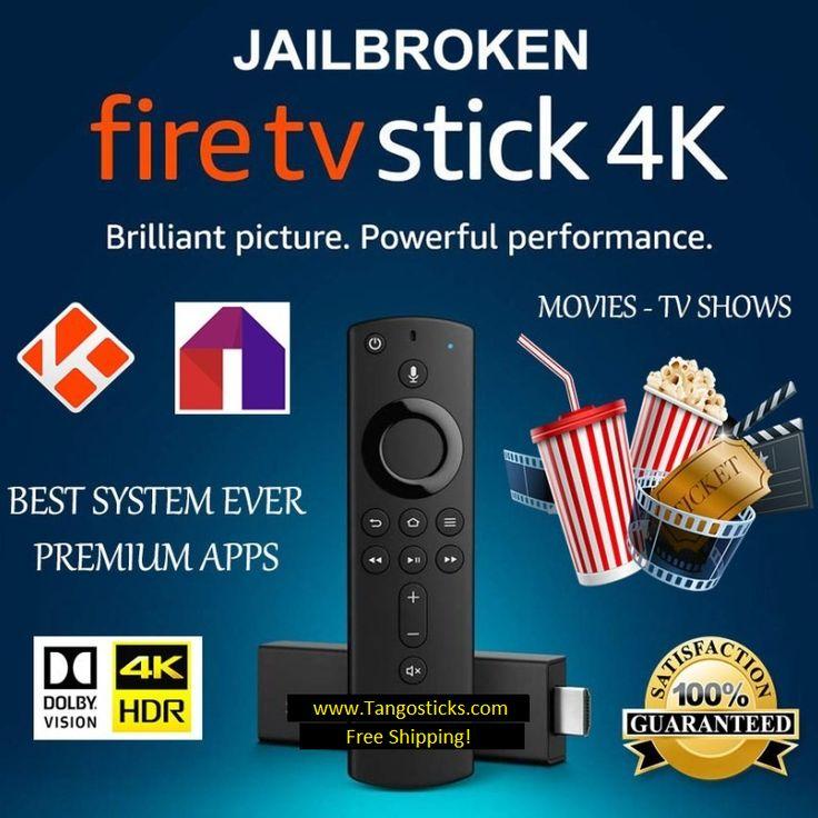 Jailbroken Fire Tv Stick 4k w/ volume and Alexa Remote