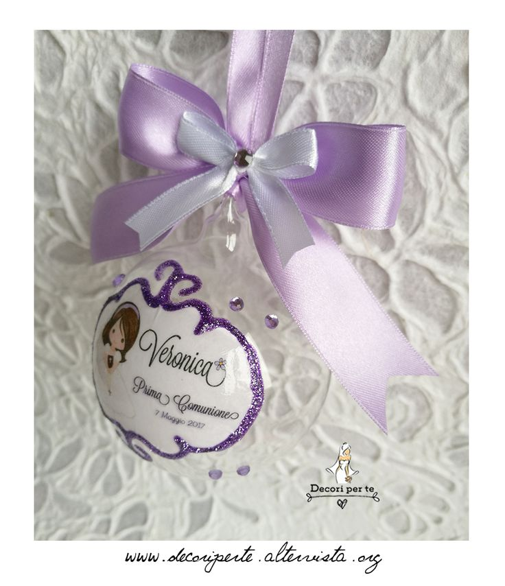 1ST COMMUNION FAVORS with glass ball BOMBONIERE CON PALLINA IN VETRO SOFFIATO PRIMA COMUNIONE