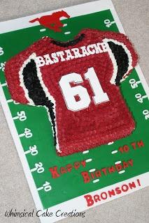 Football Cake ~ Football Birthday Cake
