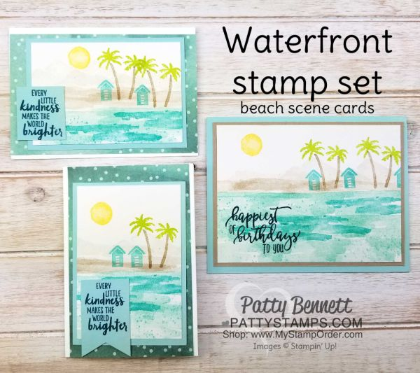 Waterfront Stamp Set - Mountains or Beach?