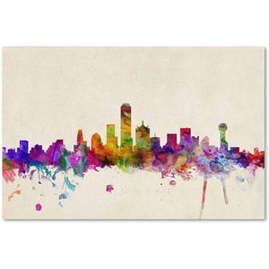 "Trademark+Fine+Art+""Dallas,+Texas""+Canvas+Art+by+Michael+Tompsett"