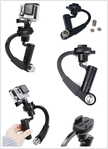 Handheld Video Stabilizer System Gimbal for GoPro Hero 4 3+ 3 2 1 SJCAM stainless steel black, by LC Prime: ✔ ✔ WHAT YOU GET: LC Prime® 1 x…